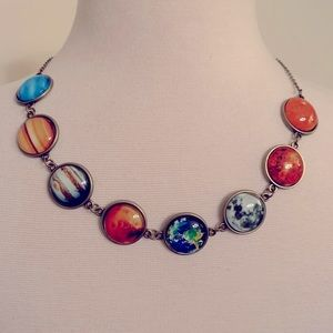 Amazing PLANETS colorful necklace